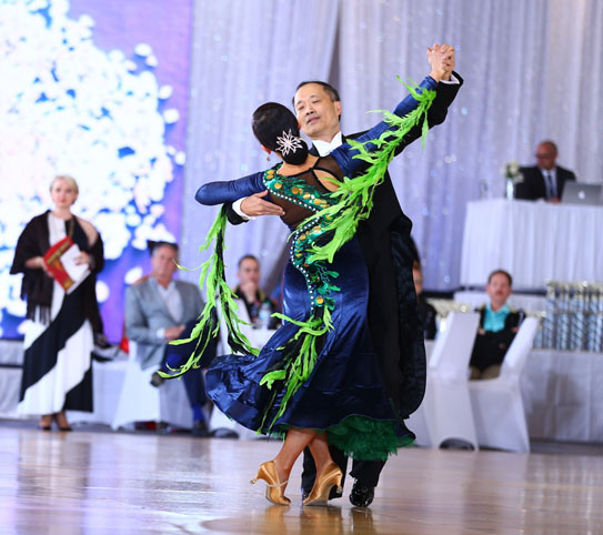 A nationally ranked amateur ballroom dancer