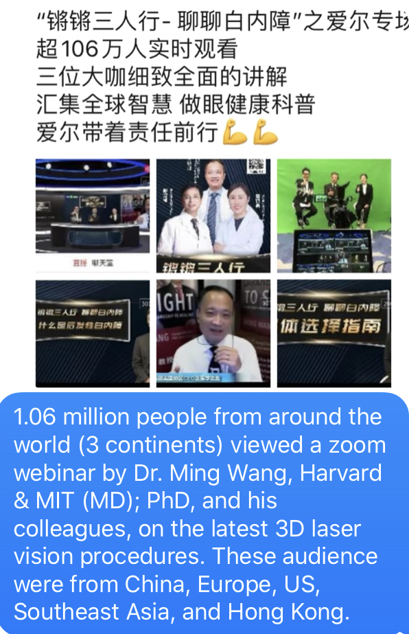 1.06 million people from around the world attended a zoom webinar by Dr. Ming Wang_1